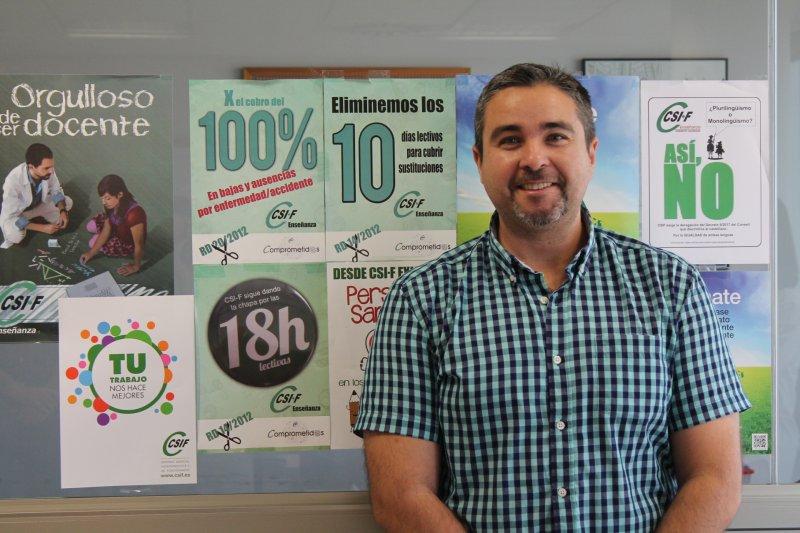 Rafael Benavent, portavoz CSIF Educación Comunidad Valenciana