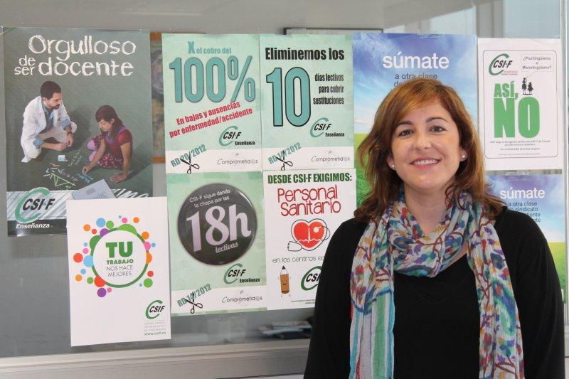 Estela Hontanilla, presidenta provincial CSIF Educación Valencia