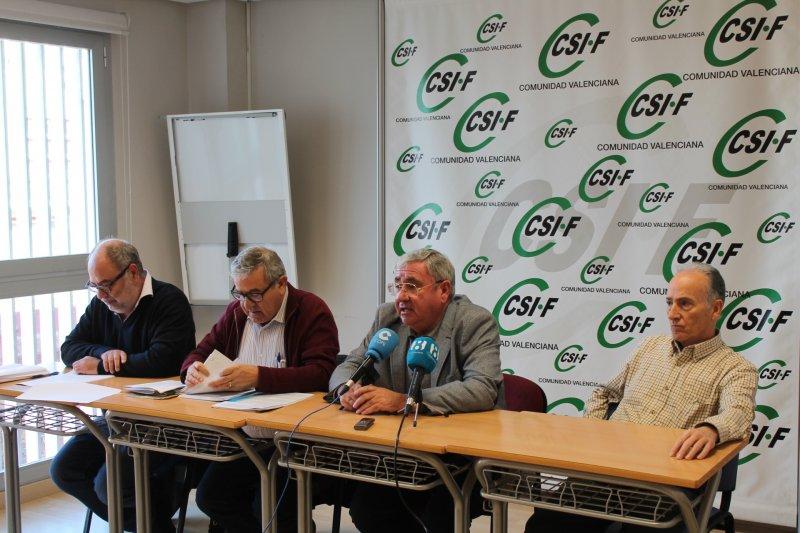 Rueda de prensa celebrada hoy en la sede de CSIF Comunidad Valenciana