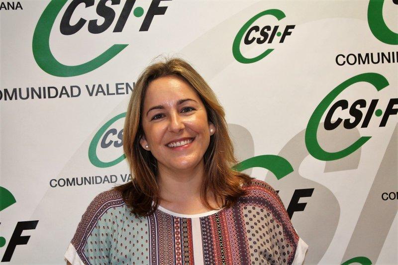 Estela Hontanilla, presidenta de CSIF Educación provincia de Valencia
