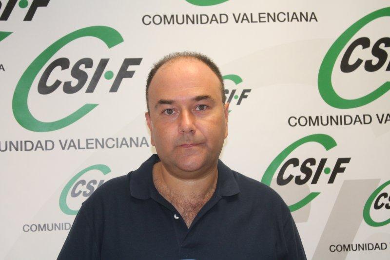 Ezequiel Archilla, presidente de CSIF Administración Central en la Comunidad Valenciana