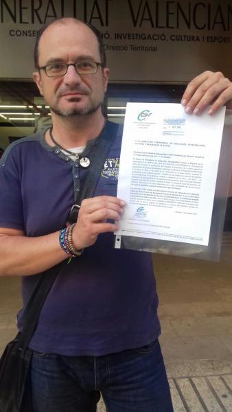 Javier Mas, responsable provincial de CSI·F Educación en Alicante