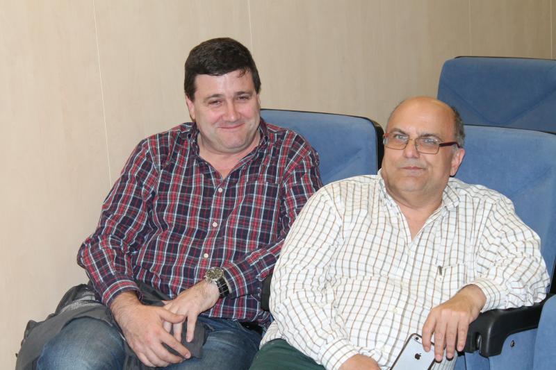 Javier Tovar, presidente CSI·F Alicante; y Rafael Cantó, presidente CSI·F Sanidad
