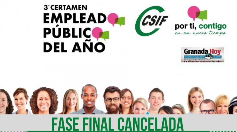 La final del Certamen del Empleado/a Público/a del Año se cancela por la pandemia