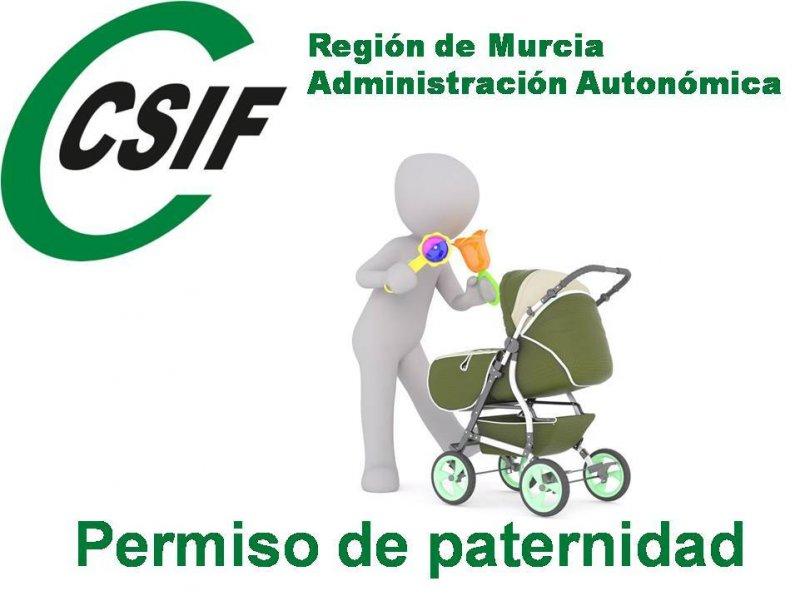 CSIF reclama al Gobierno Regional que acelere el impulso de la Ley de 'permiso de paternidad'