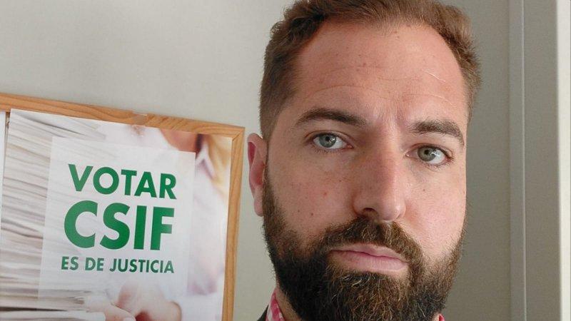 Isaac Aleixandre, delegado de CSIF Justicia Valencia