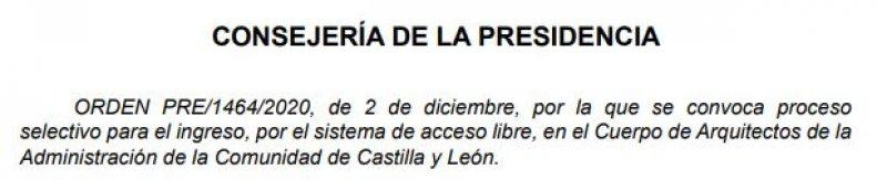 11 plazas de Arquitectos de la Administración de la Comunidad de Castilla y León
