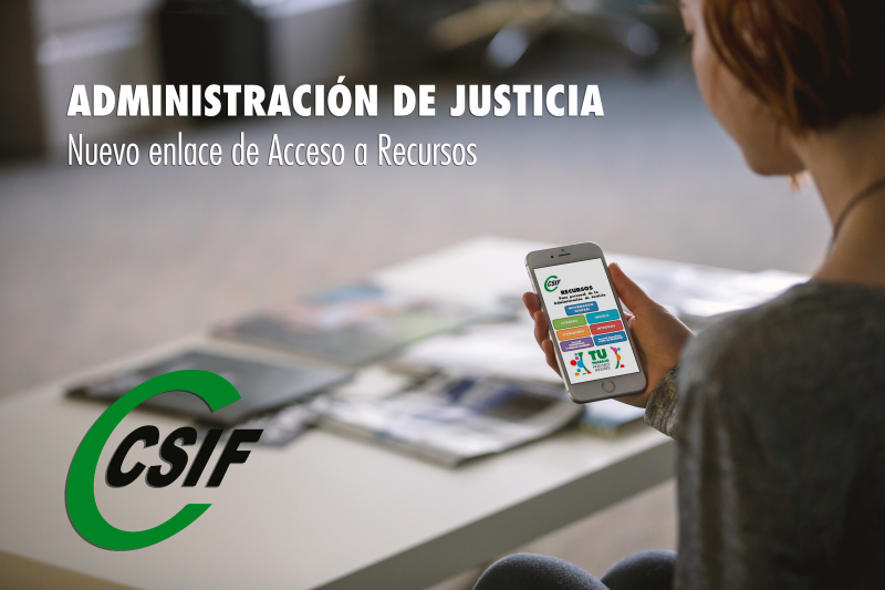 Acceso a recursos para personal de la Administración de Justicia