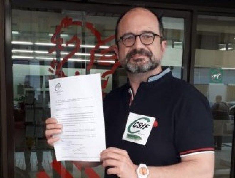 Javier Mas, delegado de CSIF Educación Comunidad Valenciana