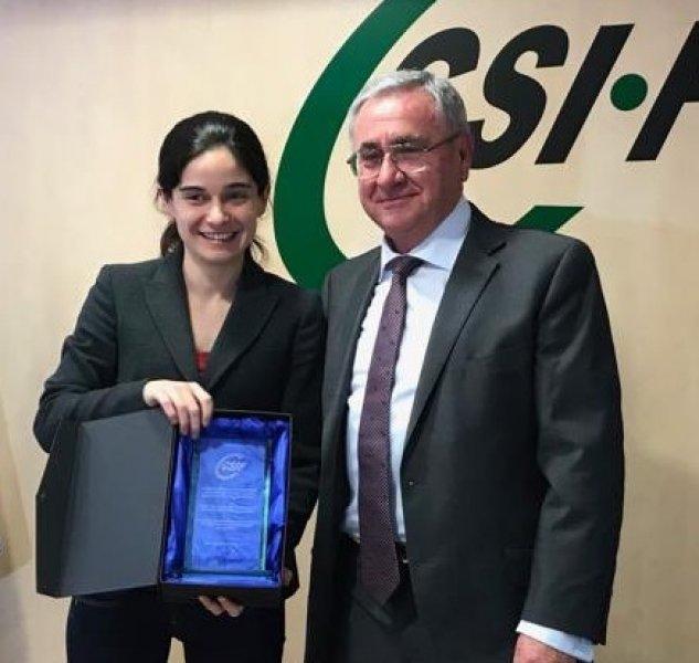 Lydia del Canto, con el presidente autonómico de CSIF Comunidad Valenciana, Daniel Matoses