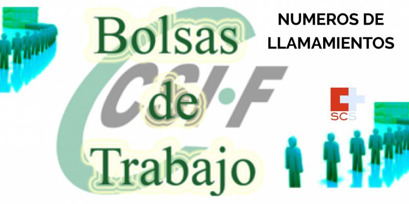 CSIF Número de llamamiento bolsa del SCS