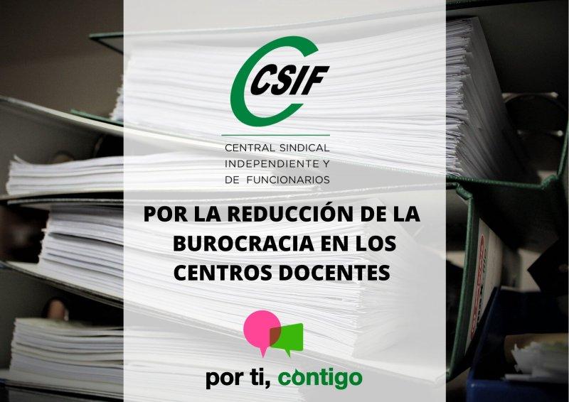 Por la reducción de la burocracia en los centros docentes CSIF CLM