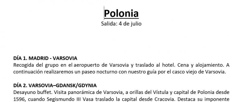 Nos vamos a Polonia
