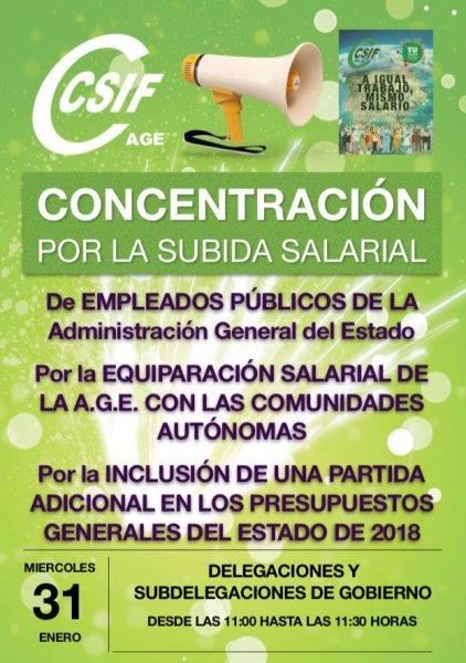 Por la equiparación salarial de la AGE con las CCAA