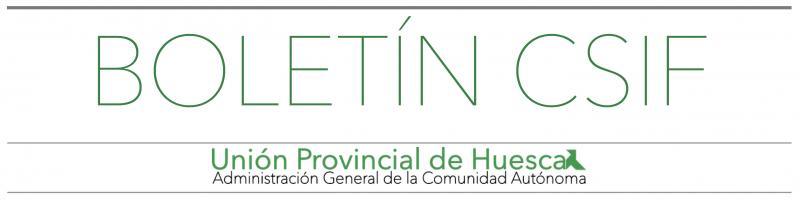 Boletín CSIF Huesca DGA