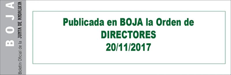 Publicada en BOJA la Orden de Directores/as