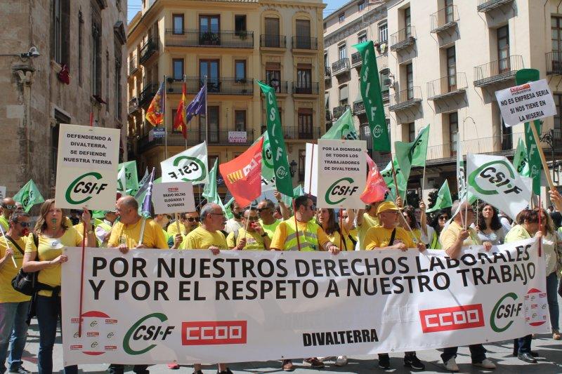 Protesta ante Diputación