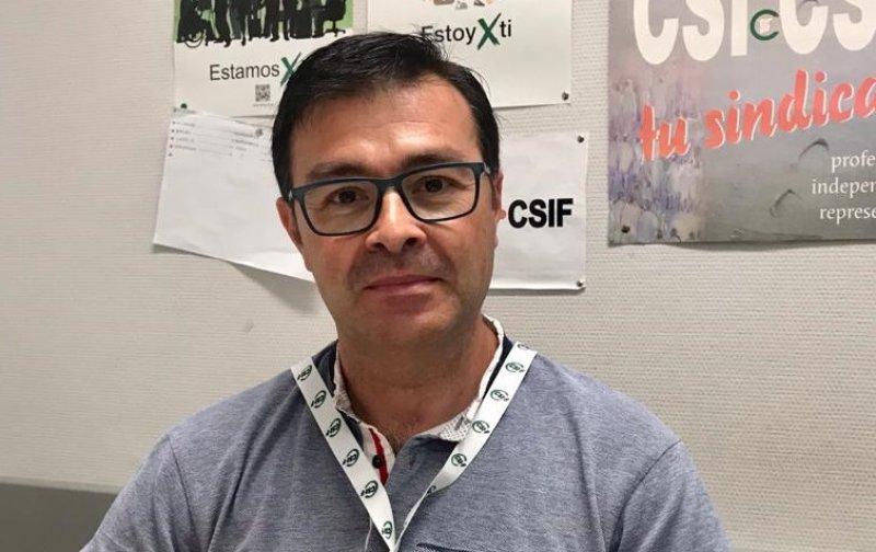 Enrique Martínez, delegado de CSIF en departamento de salud de la Ribera