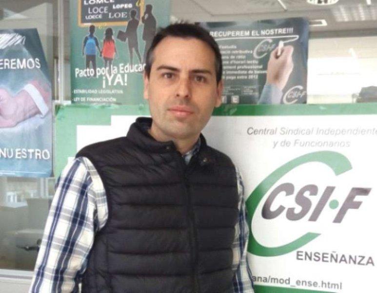 Raúl Almonacid, presidente de CSIF Educación Comunidad Valenciana