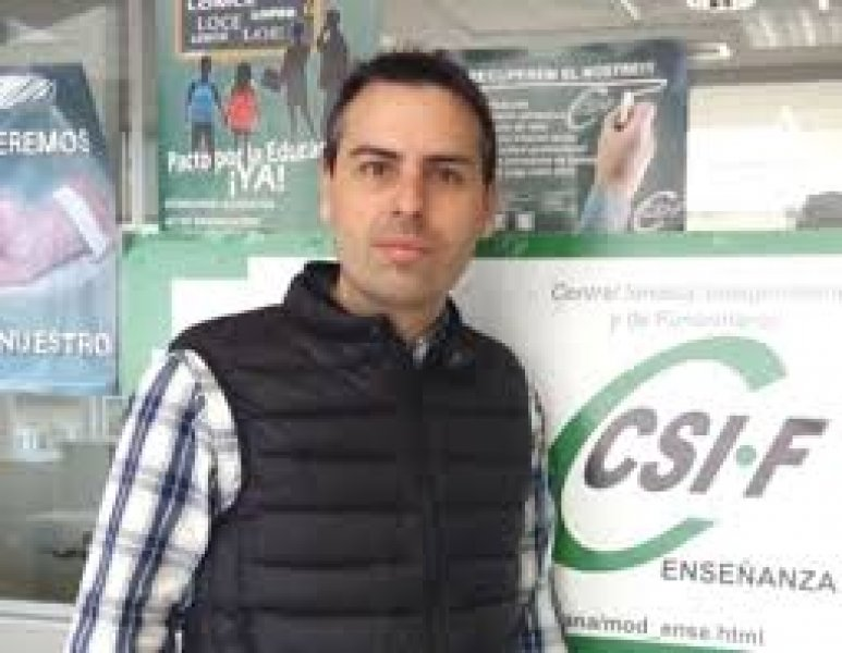 Raúl Almonacid, delegado de CSIF Educación Comunidad Valenciana