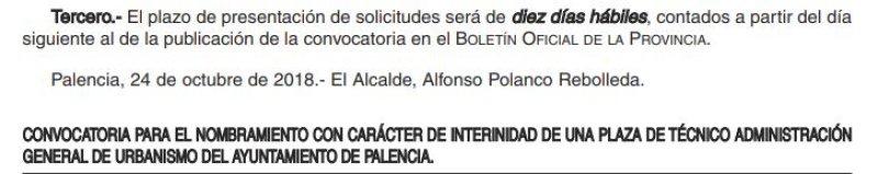 TAG de urbanismo en el Ayuntamiento de Palencia