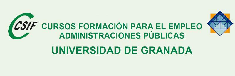 Cursos de Formación para el Empleo Administraciones Públicas: Universidad de Granada