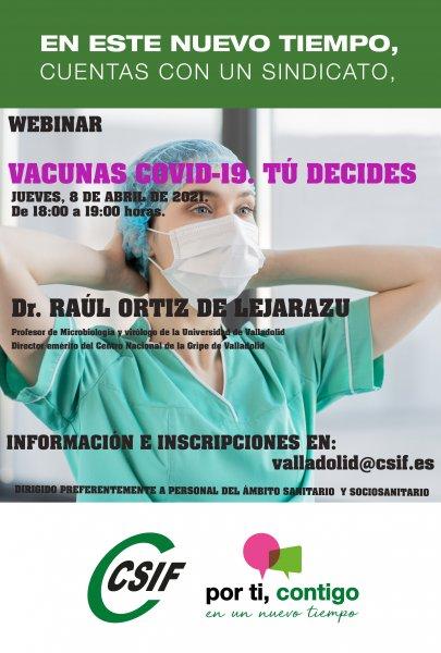 Cartel webinar CSIF Valladolid