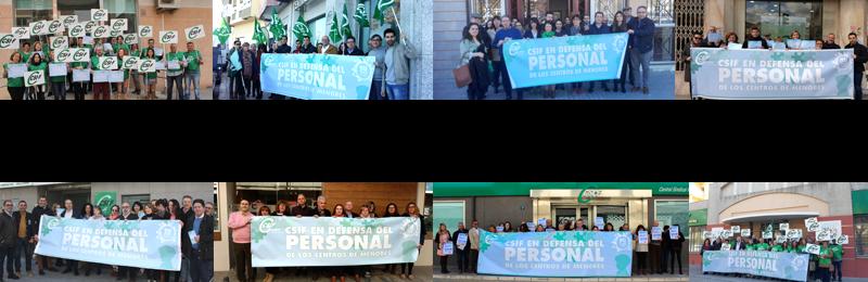 CSIF-A se concentra en todas las provincias en defensa del personal de los Centros de Protección de Menores