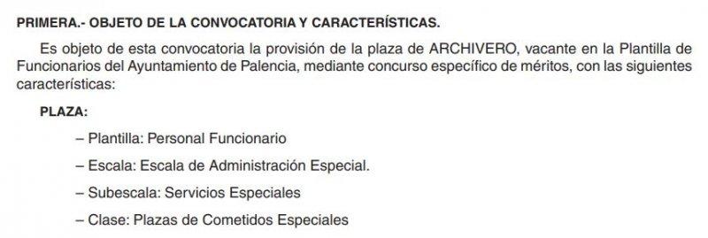 Archivero en el Ayuntamiento de Palencia