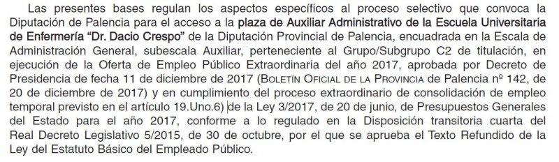 auxiliar administrativo EUE