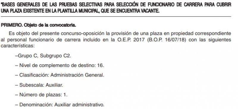 Auxiliar Administrativo en el Ayuntamiento de Saldaña (Palencia)