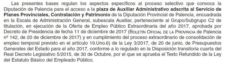 auxiliar administrativo planes provinciales