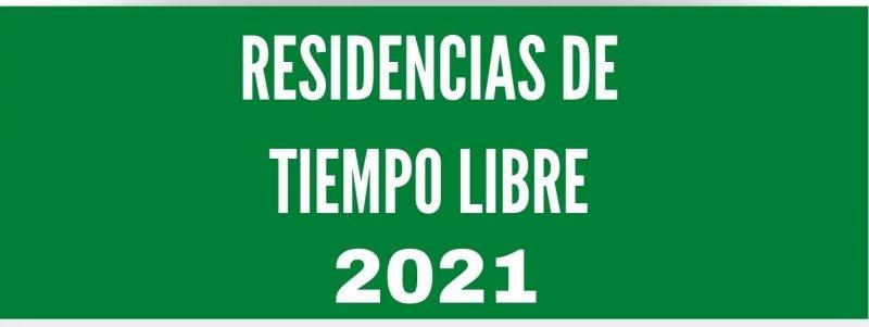 Residencias Tiempo Libre Andalucía 2021