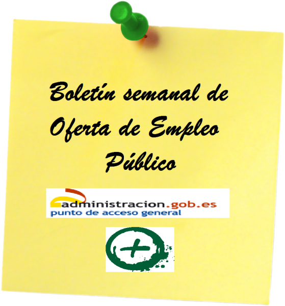 Boletín semanal de Oferta de Empleo Público