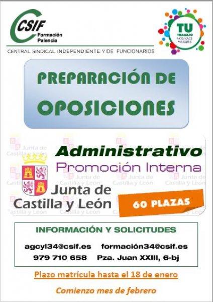 cartel Curso Administrativo Promoción Interna JCyL