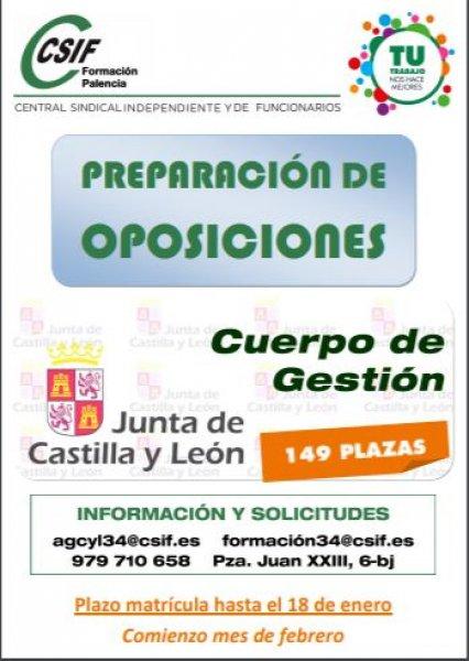 cartel Curso Gestión JCyL