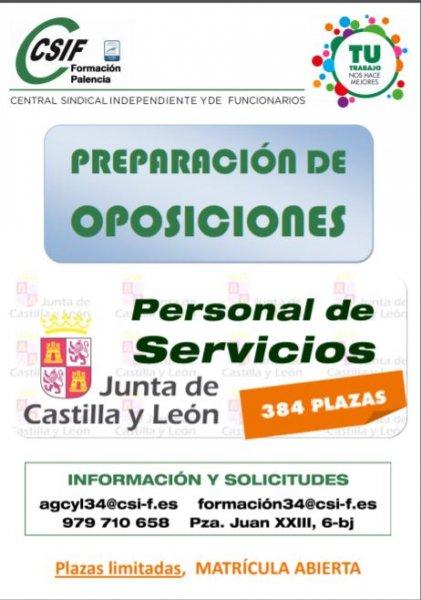 preparación oposiciones personal servicios JCyL