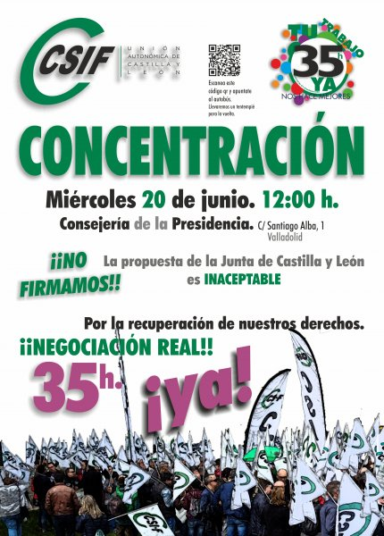 Cartel Concentración JCyL 20 junio 18
