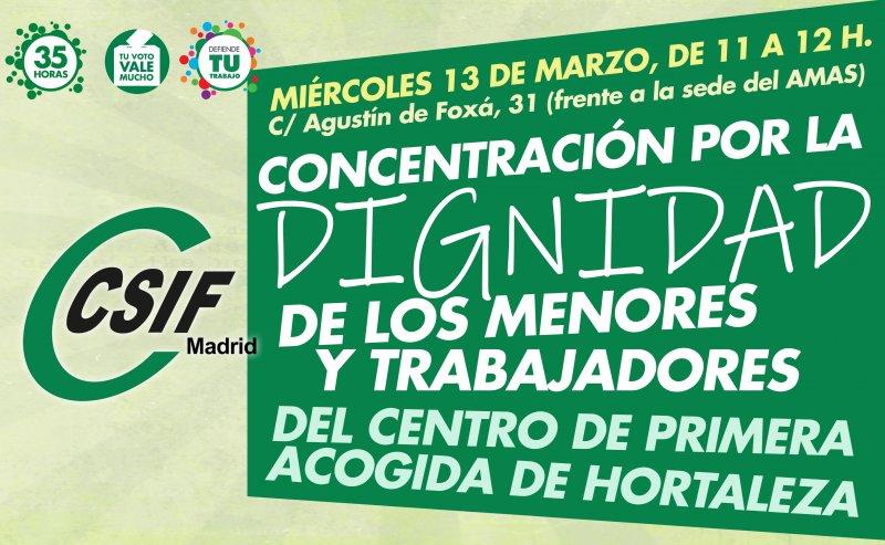 CSIF concentración trabajadores Hortaleza
