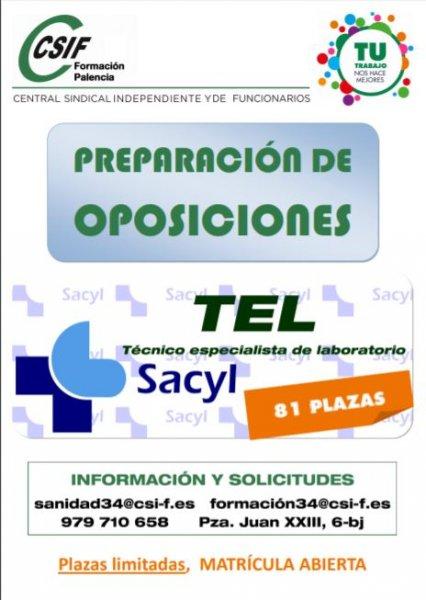 cartel Curso TEL Sacyl