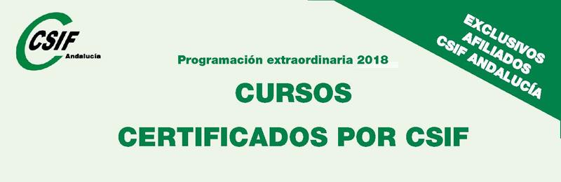 Programación extraordinaria de los cursos certificados por CSIF