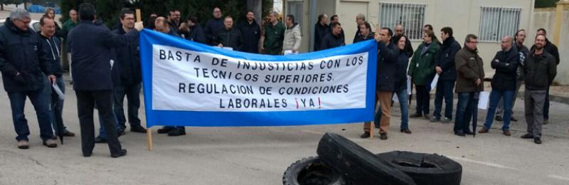 Técnicos superiores de Navantia San Fernando vuelven a concentrarse por la falta de regulación de sus condiciones laborales
