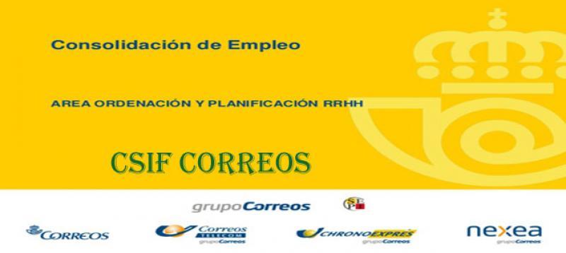 Consolidación empleo Correos