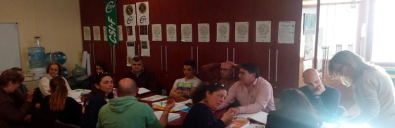 Sesión incial del curso de preparación para consolidación de empleo en Correos (sede de CSIF en Algeciras)