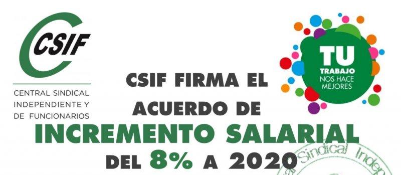 CSIF firma el acuerdo de incremento salarial