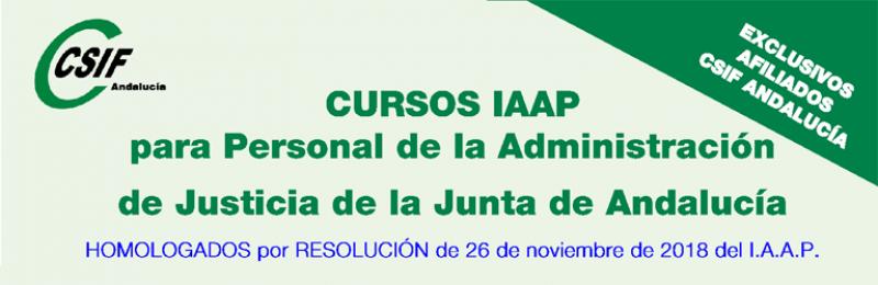 Cursos del IAAP para personal de Justicia (1er. cuatrimestre 2019)