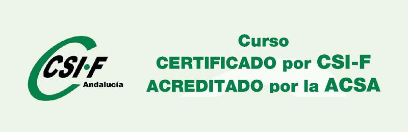 Curso certificado por CSIF y acreditado por la ACSA de Enfermería Geriátrica