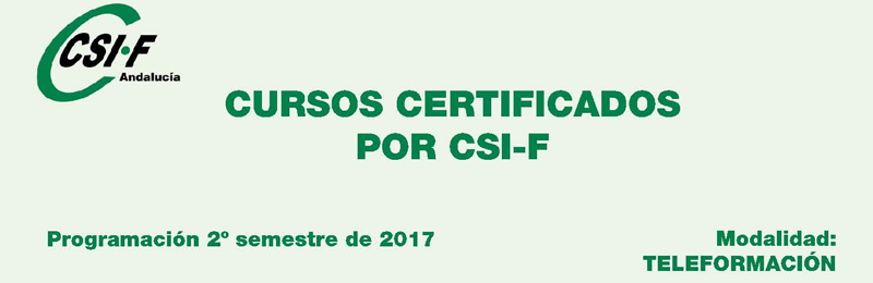 Cursos Certificados por CSIF – Programación 2º Semestre 2017