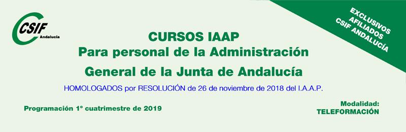 Cursos del IAAP para personal de la AGJA (1er. cuatrimestre 2019)