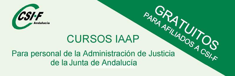 Cursos homologados del IAAP para personal de la Administración de Justicia de la Junta de Andalucía (3er cuatrimestre 2017)